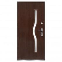 Drzwi zewnętrzne RADEX CAPRI stalowe 205x97 orzech lewe