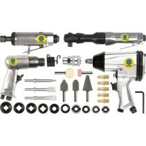 Zestaw narzędzi pneumatycznych VOREL z akcesoriami