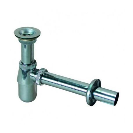 Syfon umywalkowy RAWINPLAST butelkowy metalowy chrom